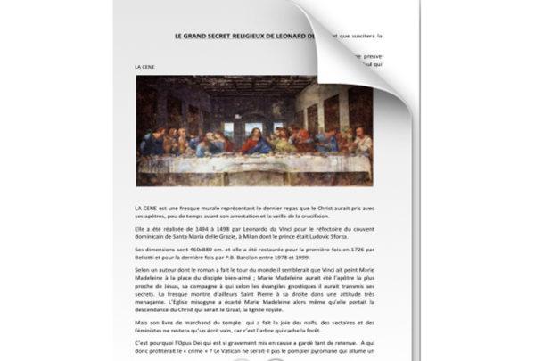 Le grand secret religieux de Léonard de Vinci 1