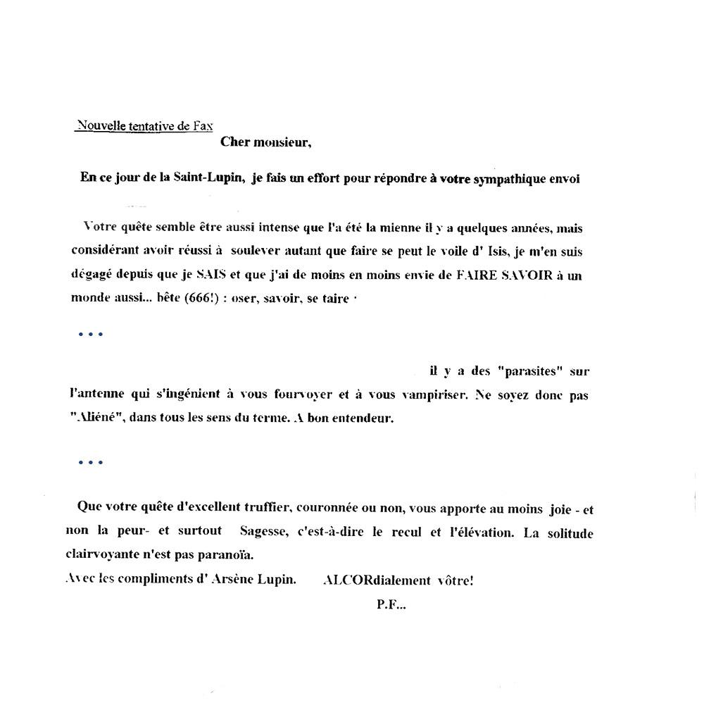 Correspondance 5