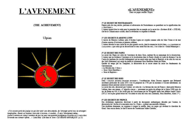 L'Avenement introduction 1